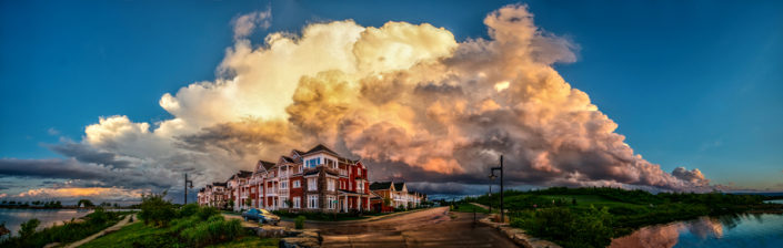 collingwood Stormy Sunset Panorama
