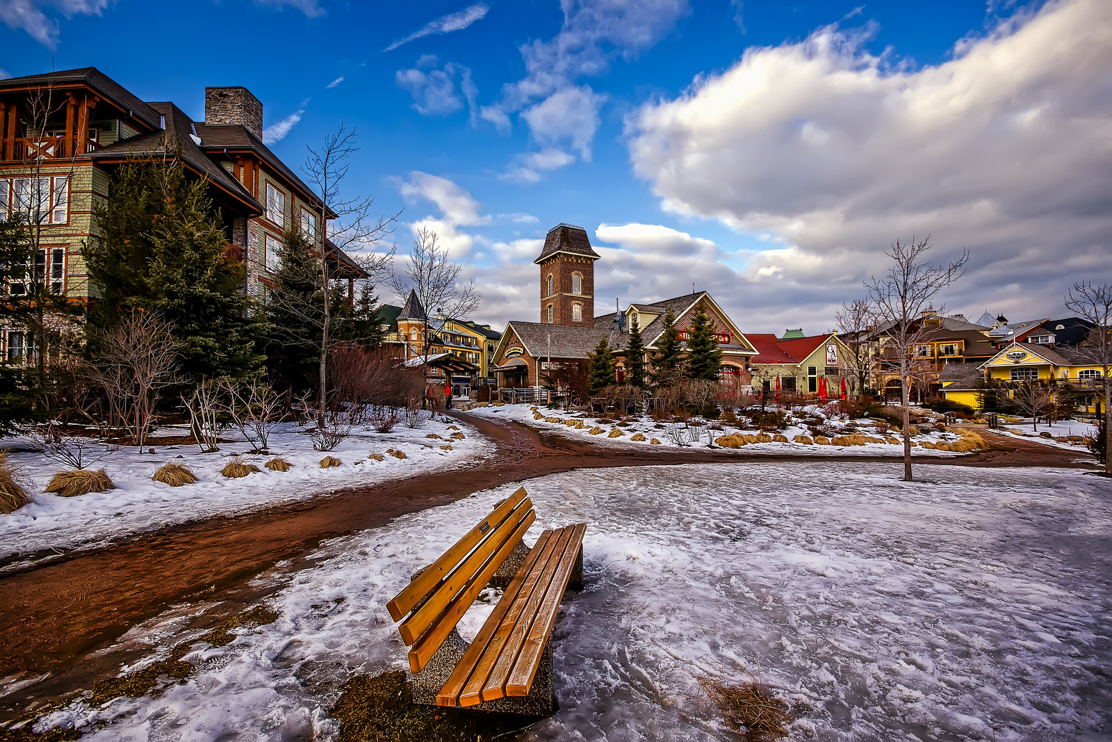 the first snow at blue mountain resort