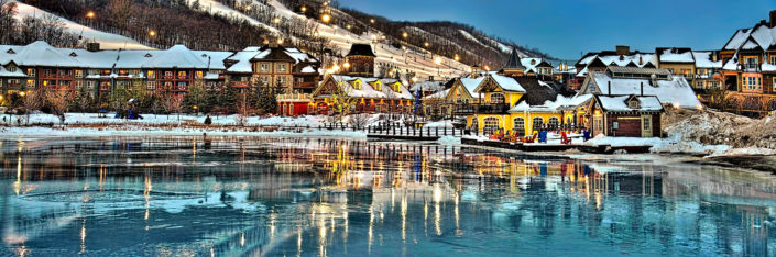 Blue Mountain Resort Ice Reflection