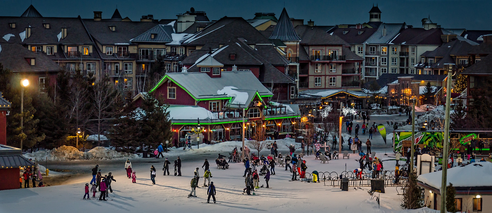 Skiing at Blue Mountain Village