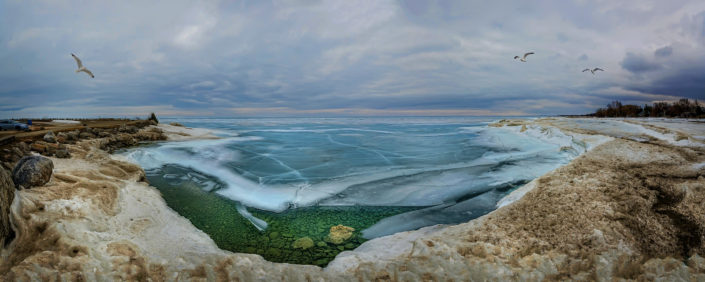Blue Ice melting on Georgian bay 2