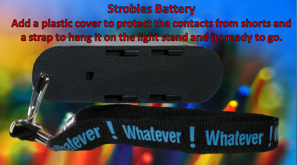 Strobies Battery with strap and cover